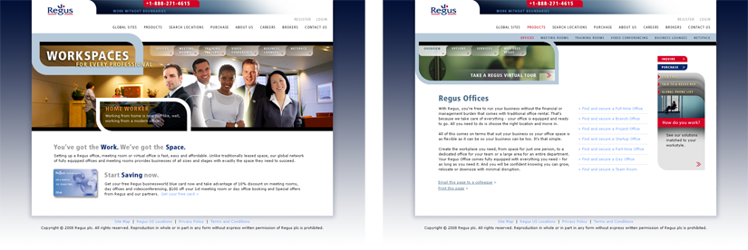 Regus Web Design